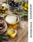 Olive Oil  With Olives Mix  On...