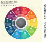 infographics step by step. pie... | Shutterstock .eps vector #524508505