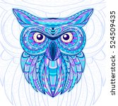 detailed hand drawn doodle... | Shutterstock .eps vector #524509435