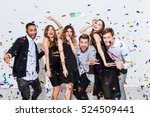 group of happy young people... | Shutterstock . vector #524509441
