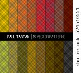 Fall Tartan Vector Patterns In...