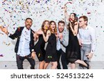 group of cheerful joyful young... | Shutterstock . vector #524513224
