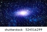 starry outer space background... | Shutterstock . vector #524516299