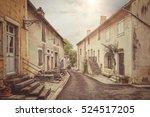 Old Street In France. Vintage...