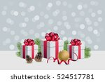 christmas gift boxes with... | Shutterstock .eps vector #524517781