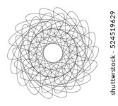 abstract spirograph element.... | Shutterstock .eps vector #524519629