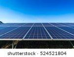 solar panel on blue sky... | Shutterstock . vector #524521804