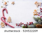 christmas holidays composition... | Shutterstock . vector #524522209