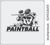 paintball club emblem and label. | Shutterstock .eps vector #524523655