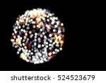 colorful abstract bokeh on black | Shutterstock . vector #524523679