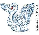 vector illustration with... | Shutterstock .eps vector #524524321