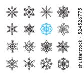 snowflake icon set | Shutterstock .eps vector #524526775