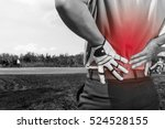 golfer back pain  muscle injury ... | Shutterstock . vector #524528155