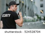 male security guard  outdoor | Shutterstock . vector #524528704
