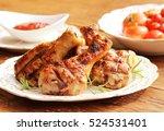 grilled chicken legs   Shutterstock . vector #524531401