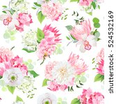 spring mixed bouquets of pink... | Shutterstock .eps vector #524532169