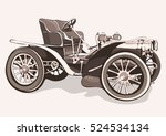 vintage car. old retro drawing... | Shutterstock .eps vector #524534134