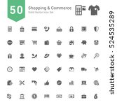 shopping and commerce icon set. ... | Shutterstock .eps vector #524535289