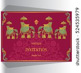 indian wedding invitation ... | Shutterstock .eps vector #524535979