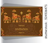 indian wedding invitation ... | Shutterstock .eps vector #524536471