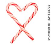 Heart Made Of Candy Canes...