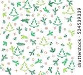 christmas icons seamless... | Shutterstock .eps vector #524539339