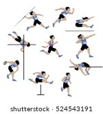 decathlon athlete  isolated on...   Shutterstock .eps vector #524543191