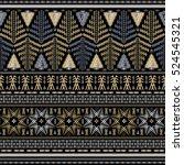 seamless ethnic pattern.... | Shutterstock .eps vector #524545321