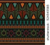seamless ethnic pattern.... | Shutterstock .eps vector #524545585