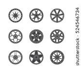 vector illustration of car rims ...   Shutterstock .eps vector #524546734