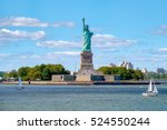 the statue of liberty at... | Shutterstock . vector #524550244