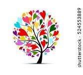 love tree for your design | Shutterstock .eps vector #524553889