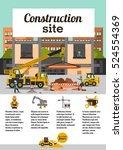 construction site. staff... | Shutterstock .eps vector #524554369