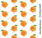 peach  vector seamless pattern... | Shutterstock .eps vector #524562289
