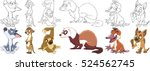 cartoon animal set. collection... | Shutterstock .eps vector #524562745