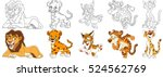 Cartoon Animal Set. Collection...