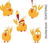set of funny birds | Shutterstock .eps vector #524570461