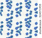 seamless pattern with blue... | Shutterstock . vector #524571955