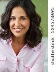 attractive joyful and positive... | Shutterstock . vector #524573695