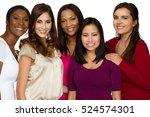 diverse group of women. | Shutterstock . vector #524574301
