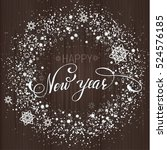 new year snowflakes background. ... | Shutterstock .eps vector #524576185
