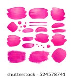 set of pink shining brush... | Shutterstock . vector #524578741