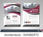 purple annual report brochure... | Shutterstock .eps vector #524582971