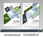 green annual report brochure... | Shutterstock .eps vector #524583019