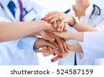 doctors and nurses in a medical ... | Shutterstock . vector #524587159