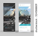 abstract brochure cover set.... | Shutterstock .eps vector #524588809