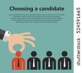 choosing the best candidate for ... | Shutterstock .eps vector #524591665