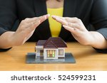 home insurance concept | Shutterstock . vector #524599231