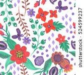watercolor seamless pattern... | Shutterstock . vector #524599237