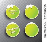 christmas vector green glossy...   Shutterstock .eps vector #524600995